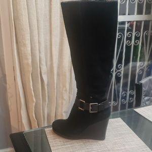 Nine west  Suede wedge boots